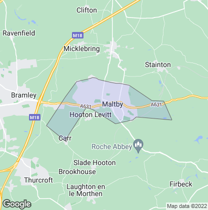 Map of property in Maltby