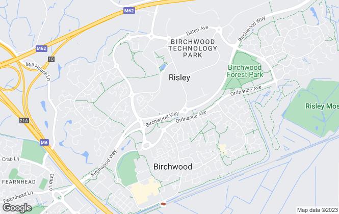 Map for Oakleaf North West, Warrington