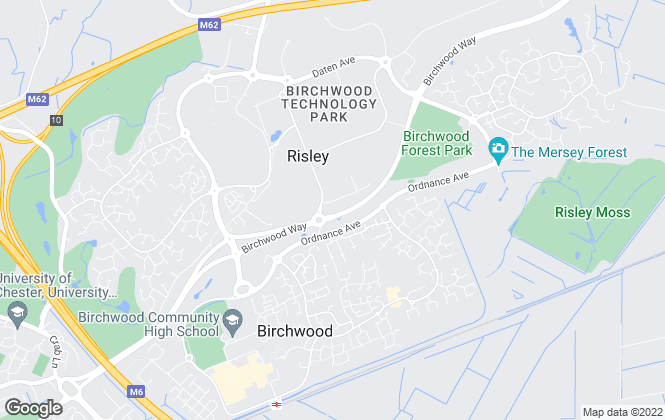 Map for Your Housing Group, Warrington
