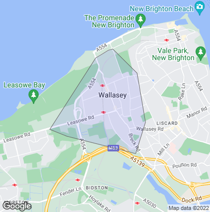 Map of property in Wallasey Village