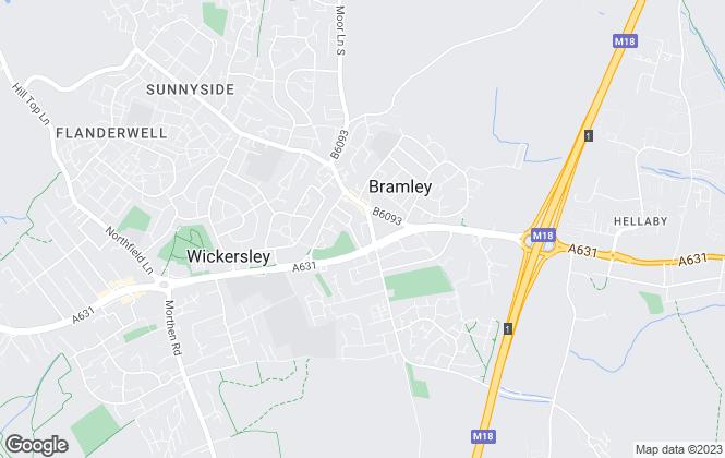 Map for Gram Estate Agents, Bramley- Lettings
