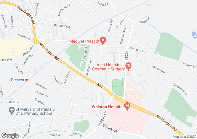 Map for Gilbert Road, Whiston, Prescot L35