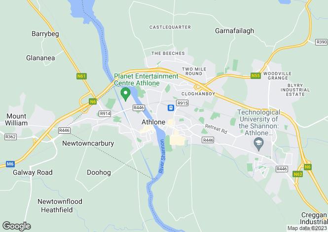 Map for Kylemore, Railway View, Athlone, Co. Westmeath., N37EV12
