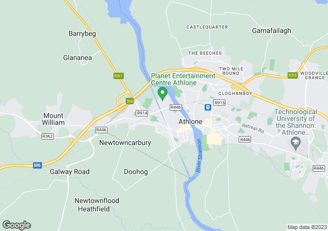 Map for 11 Magazine Road, Athlone, Athlone West, Westmeath