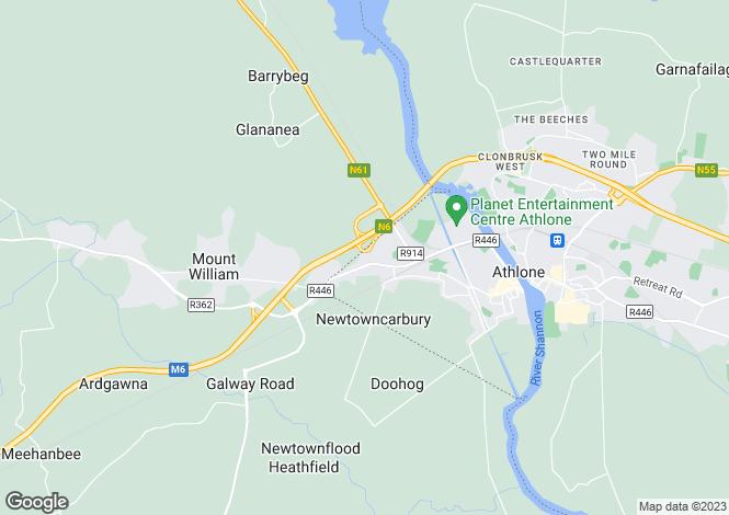 Map for 21 Abbeygarth, Athlone West, Westmeath
