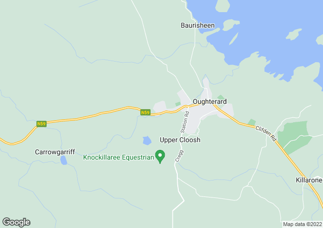 Map for Waterfall Lodge, Oughterard, Connemara, Co Galway