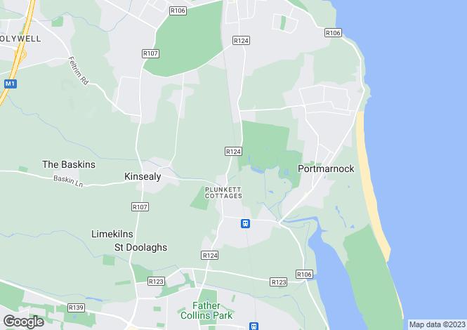 Map for San Jose, Hazelbrook,, Malahide, Co. Dublin