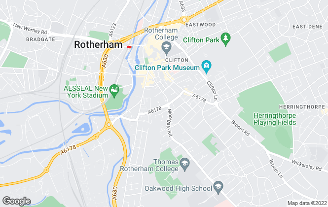 Map for Uflit, Rotherham