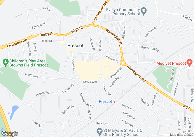 Map for Carisbrooke at Speakman Gardens, Steley Way,