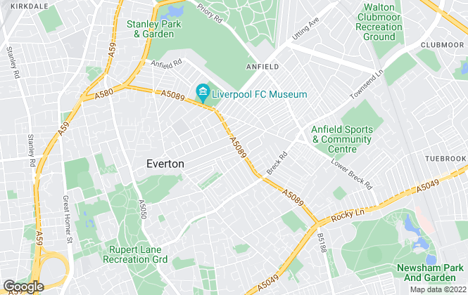 Map for FSC Property, Anfield