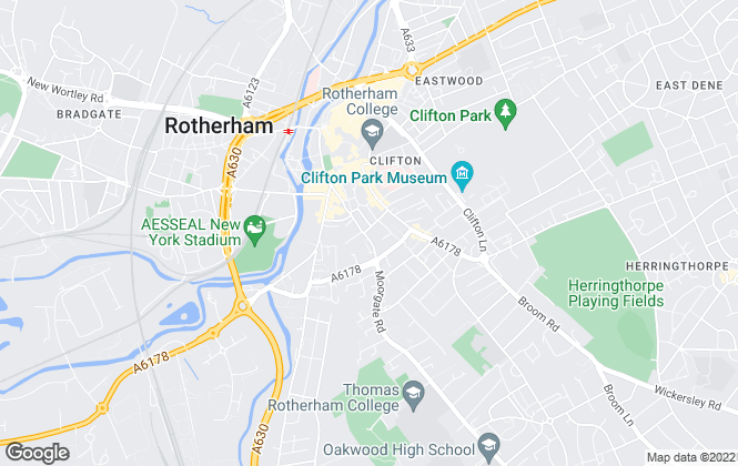 Map for William H. Brown, Rotherham