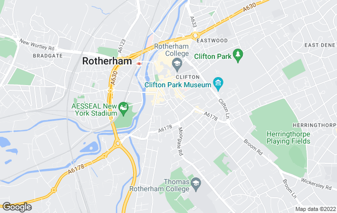 Map for Bartons, Rotherham