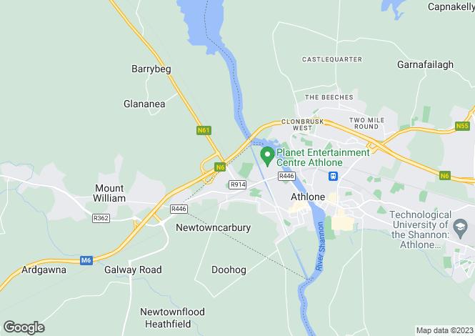 Map for Bogganfin, Athlone West, Westmeath