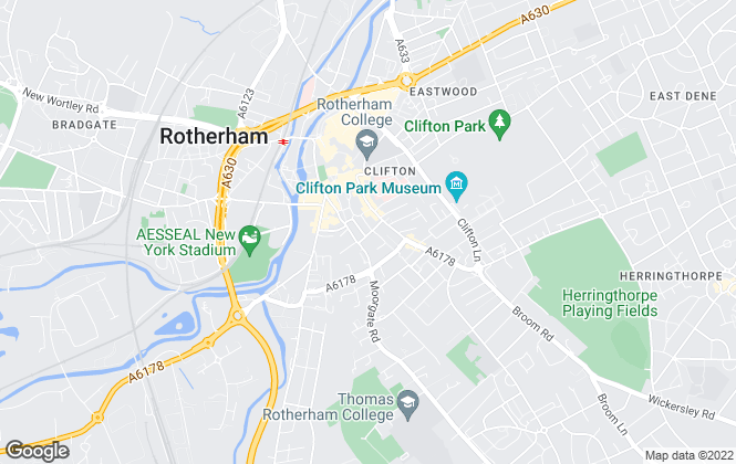 Map for William H. Brown - Lettings, Rotherham - Lettings