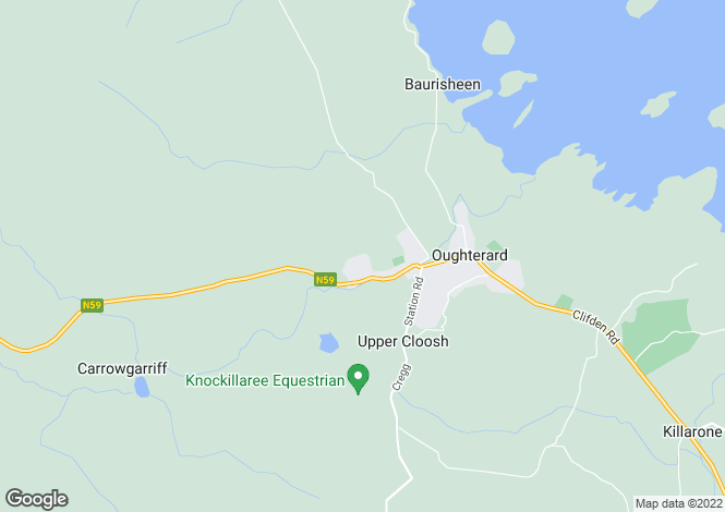 Map for Oughterard, Galway