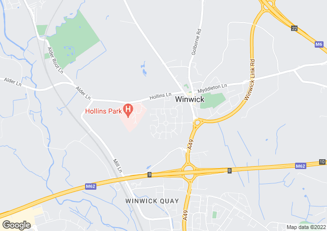 Map for Crompton Drive, Winwick, Warrington, WA2