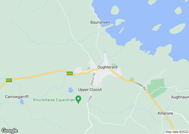 Map for 5 Abhainn na Coille, Oughterard, Co. Galway. H91 D32F