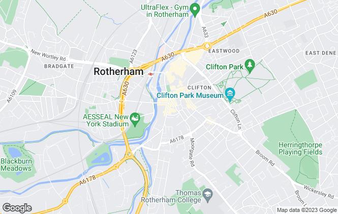 Map for Yorkshire Accommodation Bureau, Rotherham