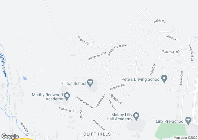 Map for Victoria Way, Maltby, Rotherham