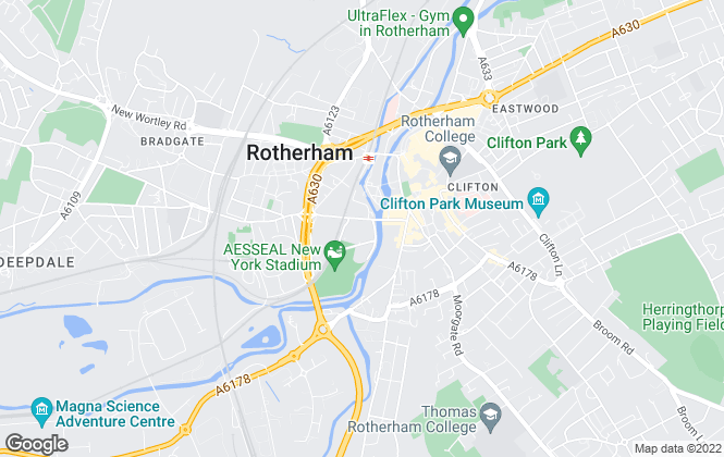 Map for Rotherham Metropolitan Borough Council, Rotherham