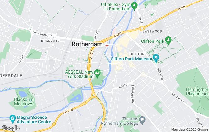 Map for Rotherham Metropolitan Borough Council, Rotherham