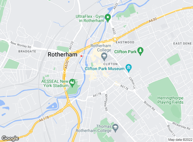 Map for Reeds Rains , Rotherham