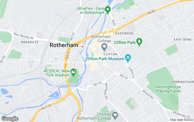 Map for Reeds Rains Lettings, Rotherham