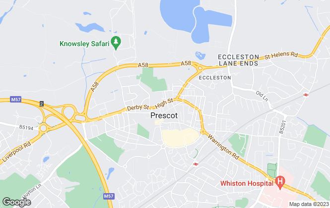 Map for Belvoir, Liverpool (Prescot)
