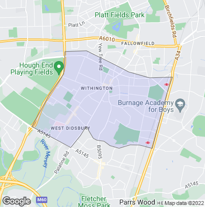 Map of property in Withington