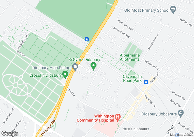 Map for The Boulevard, West Didsbury, Manchester