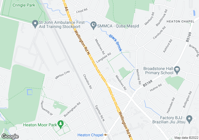 Map for Wellington Road North, Heaton Chapel, Stockport