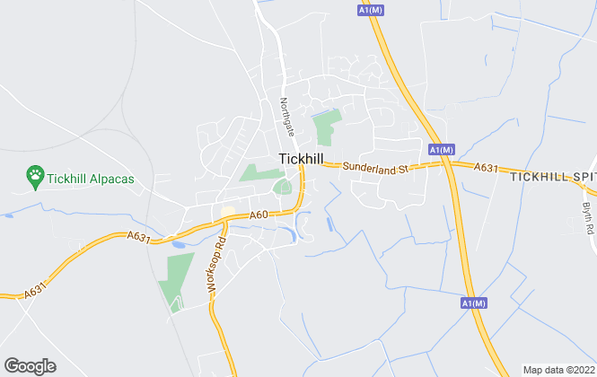 Map for Portfield, Garrard & Wright, Tickhill
