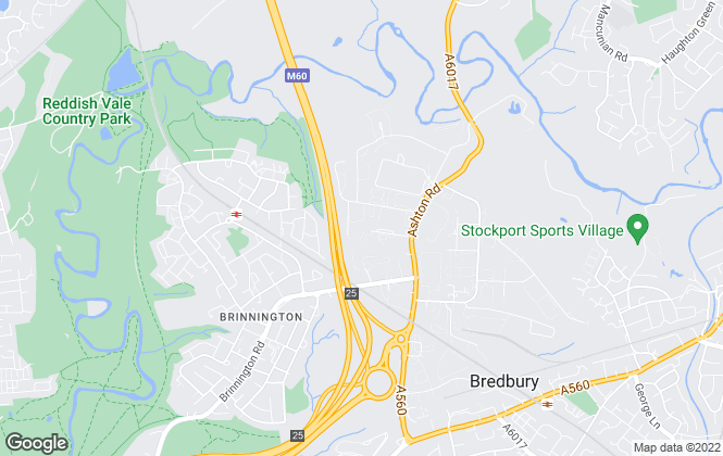 Map for Bear Lettings , Bredbury