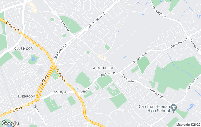 Map for Belvoir, West Derby