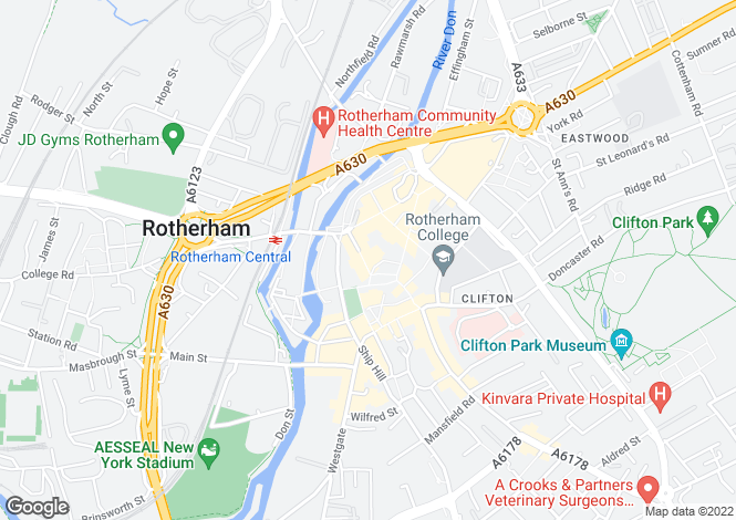 Map for BRIDGEGATE, ROTHERHAM, SOUTH YORKSHIRE, ENGLAND