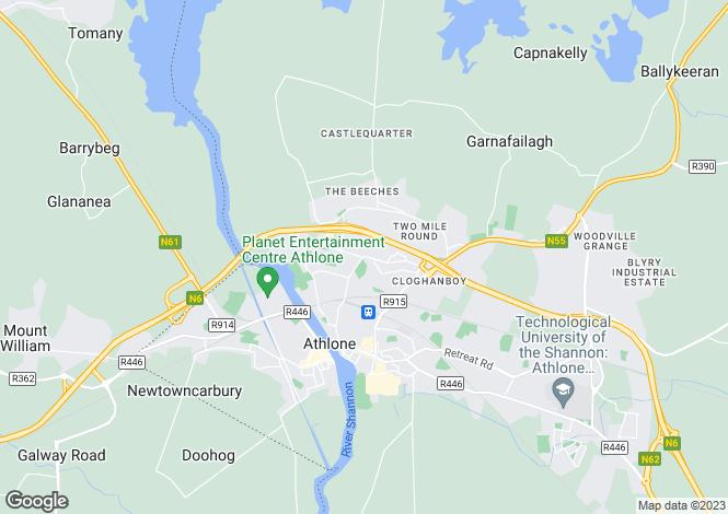 Map for Arcadia, Athlone East, Westmeath