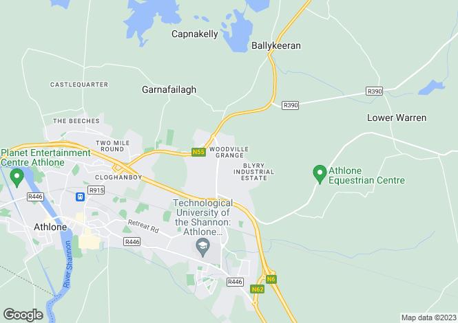 Map for Athlone, Westmeath