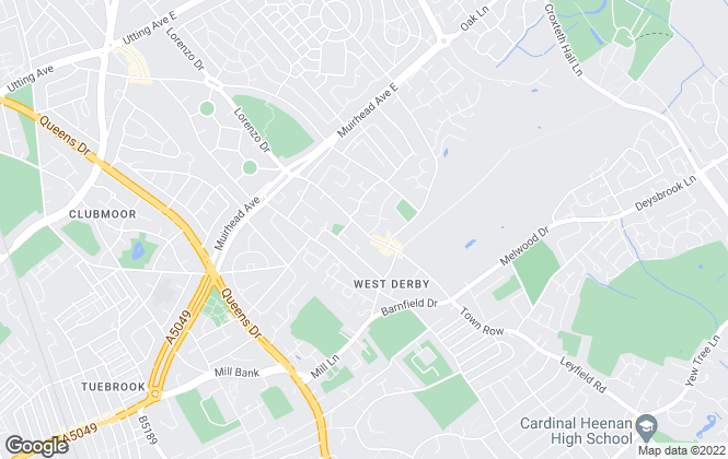 Map for Reeds Rains , West Derby