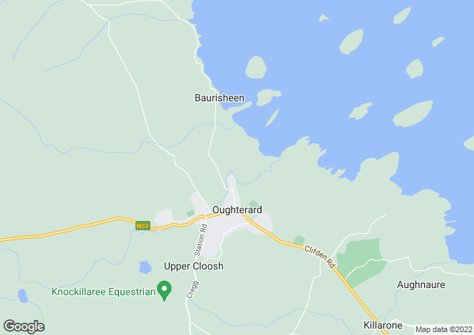 Map for Eighterard, Oughterard, Co. Galway. H91 XE2R