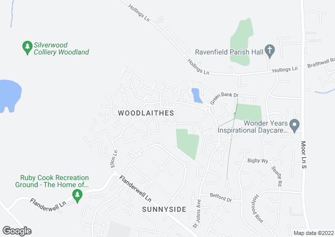 Map for Fern Court, Sunnyside, ROTHERHAM, South Yorkshire