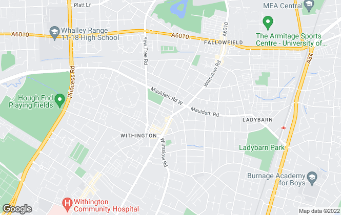 Map for homes4u, Withington-Lettings
