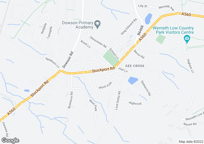 Map for Stockport Road, Gee Cross, Hyde, SK14