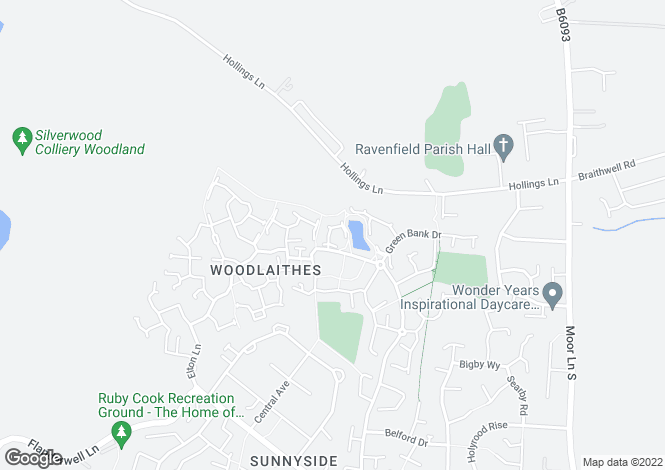 Map for Lakeside Close, Woodlaithes Villlage