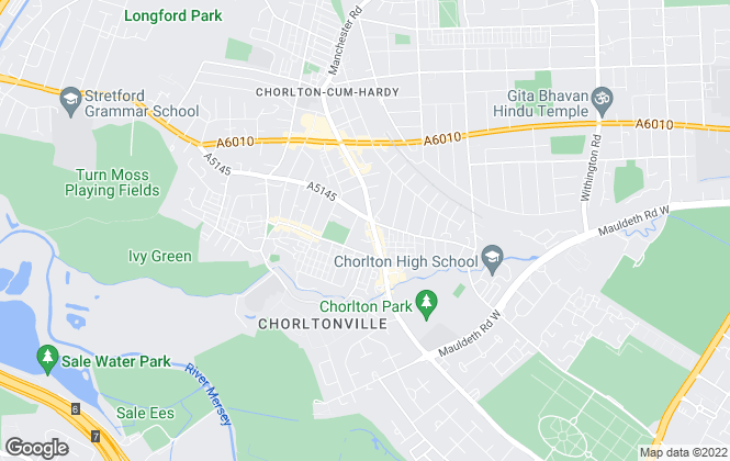 Map for Brooklands Estate Agents, Chorlton