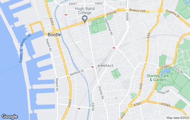 Map for Armadillo Self Storage, Armadillo Liverpool North