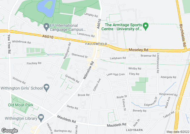 Map for The Blake Building, 349 Wilmslow road, Fallowfield,