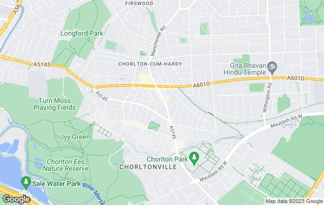 Map for Bridgfords Lettings, Chorlton