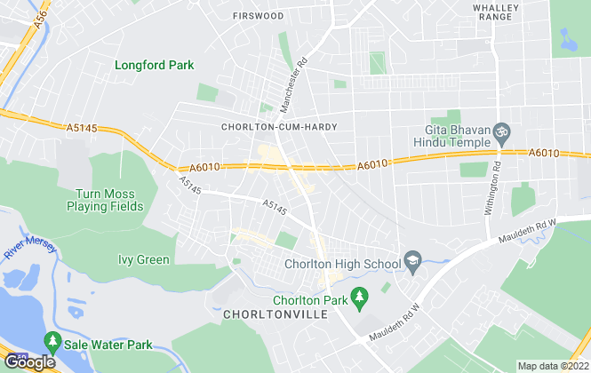 Map for Ryan Baker Estate Agents, Manchester