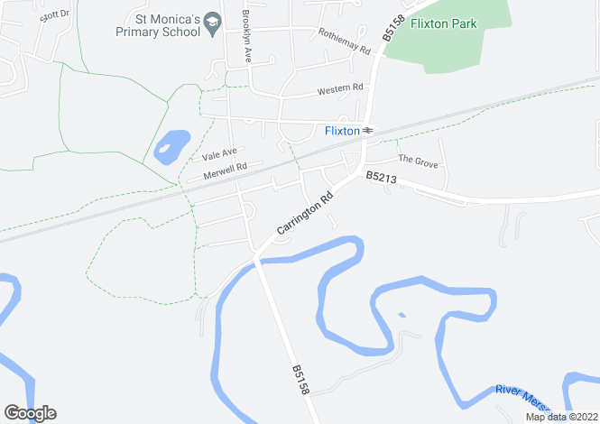 Map for Carrington Road,
