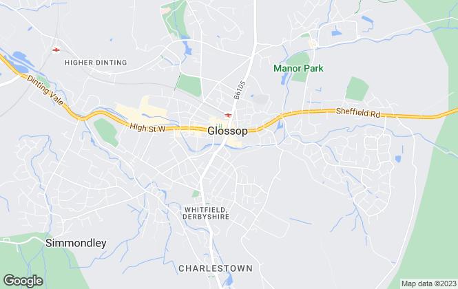Map for Croft Lettings Ltd, Glossop